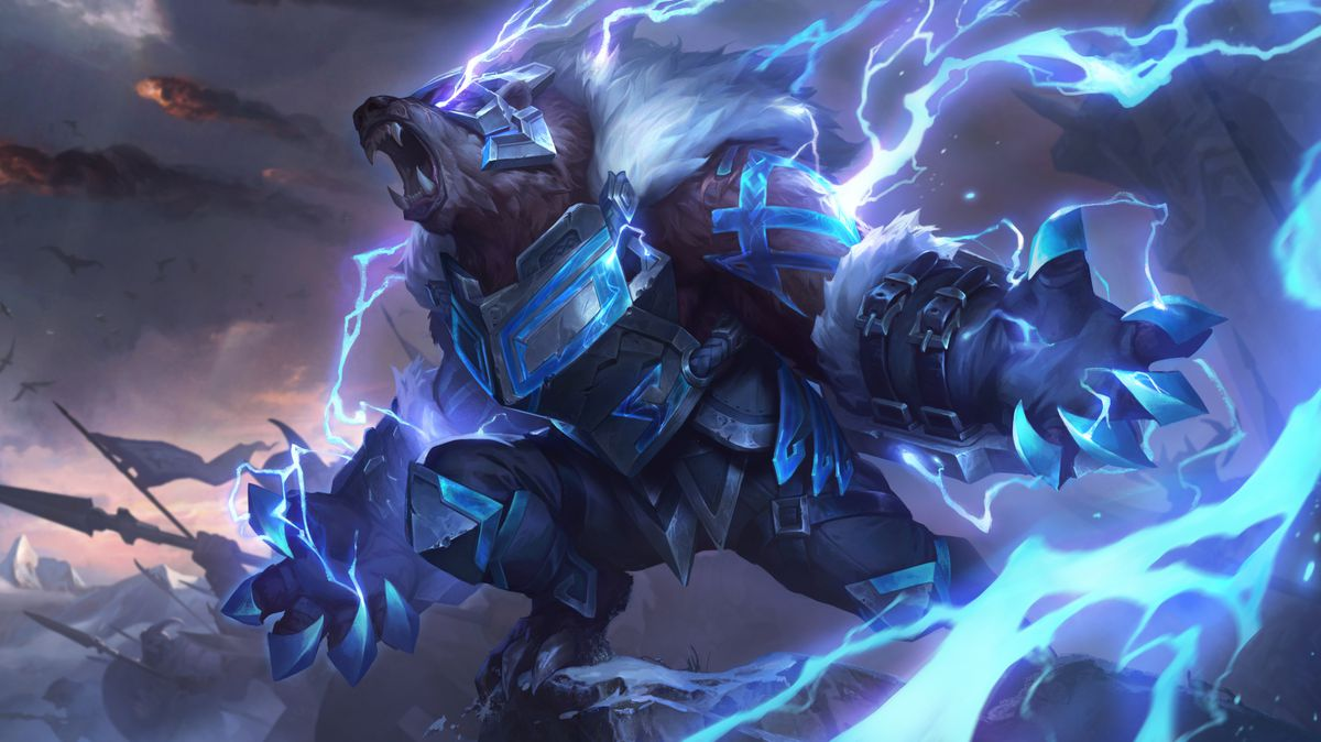 Runeguard Volibear roars and leads an army while controlling thunder