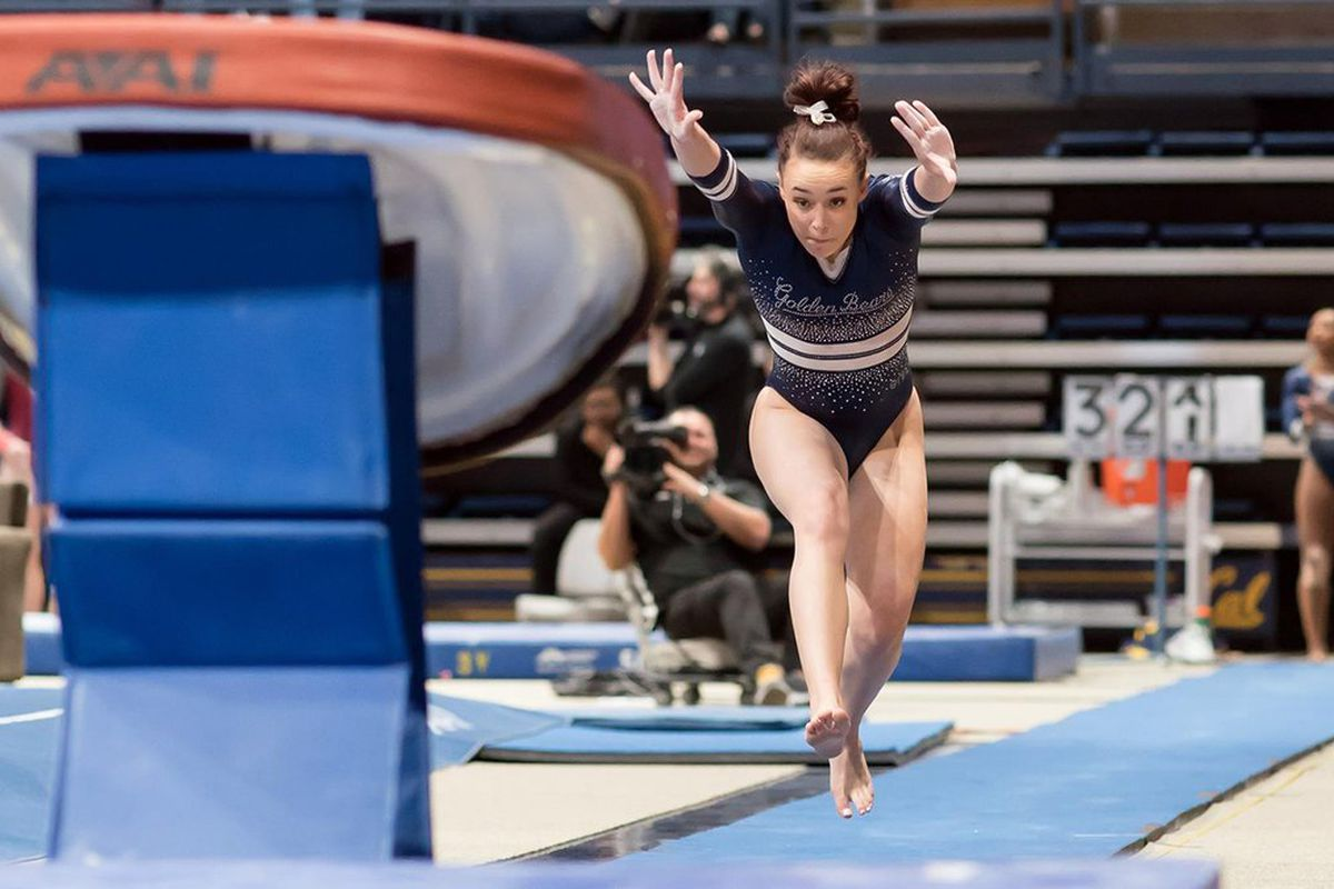 Milan Clausi of Cal W. Gymnastics to compete in vault at NCAA Championships today