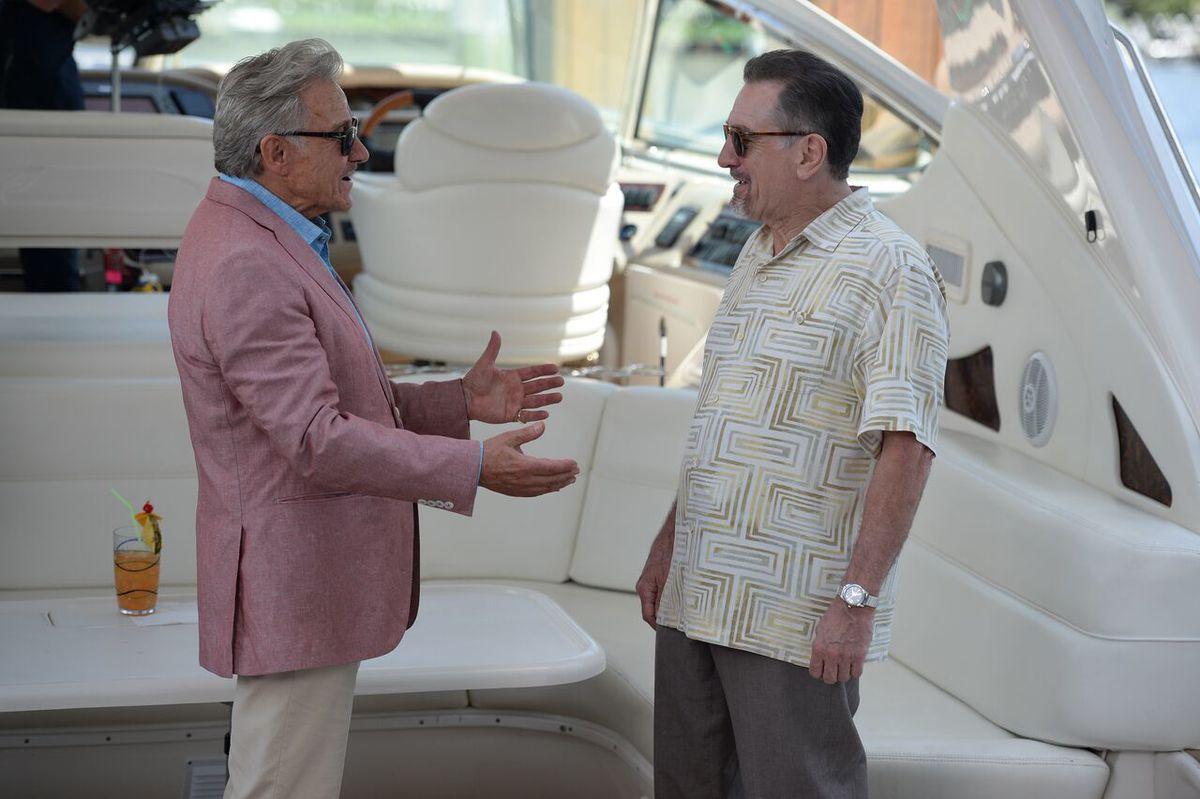 Harvey Keitel and Robert De Niro in The Comedian