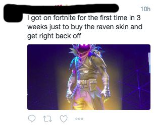 Fortnite S Raven Skin Is Out And Players Are Making Their First Ever