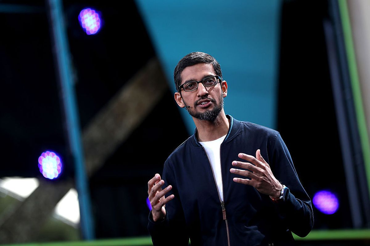 Google CEO Sundar Pichai canceled an all-hands meeting about gender controversy due to employee worries of on…