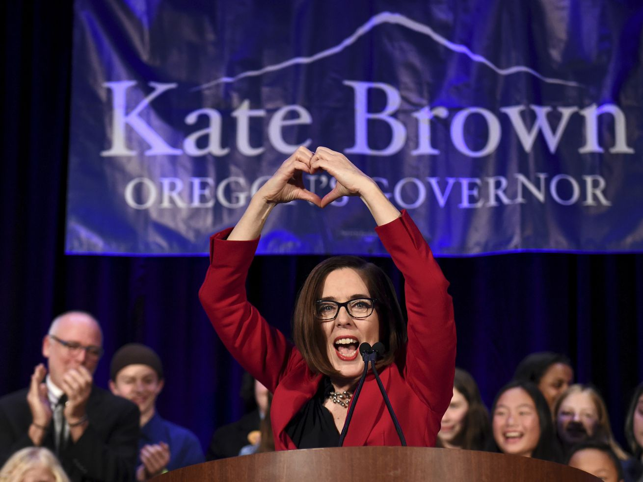 Kate Brown: reelected and it feels so good.