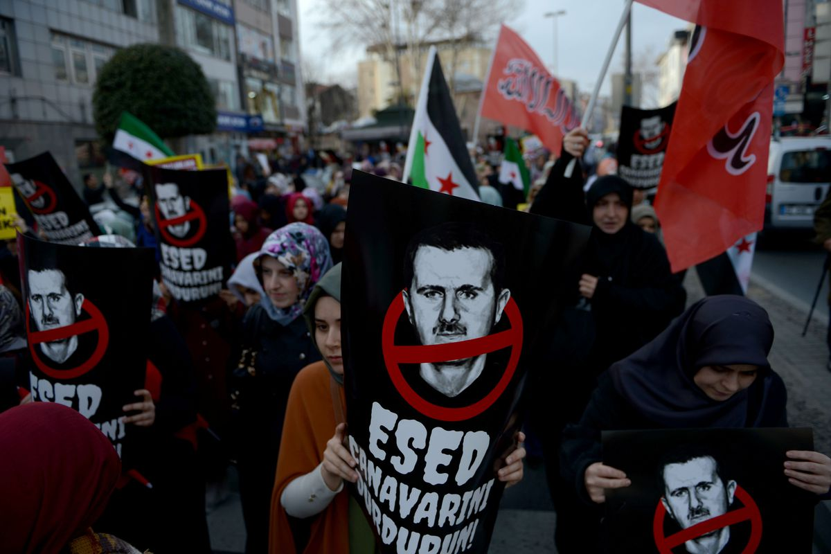 Anti-Assad protest in Turkey.