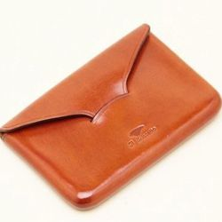 """For the old school social networker: Il Bussetto Business Card Holder, <a href=""""http://mohawkgeneralstore.com/catalog/mohawk-man/il-bussetto-business-card-holder-in-brown.html"""">$78</a> at Mohawk General Store"""