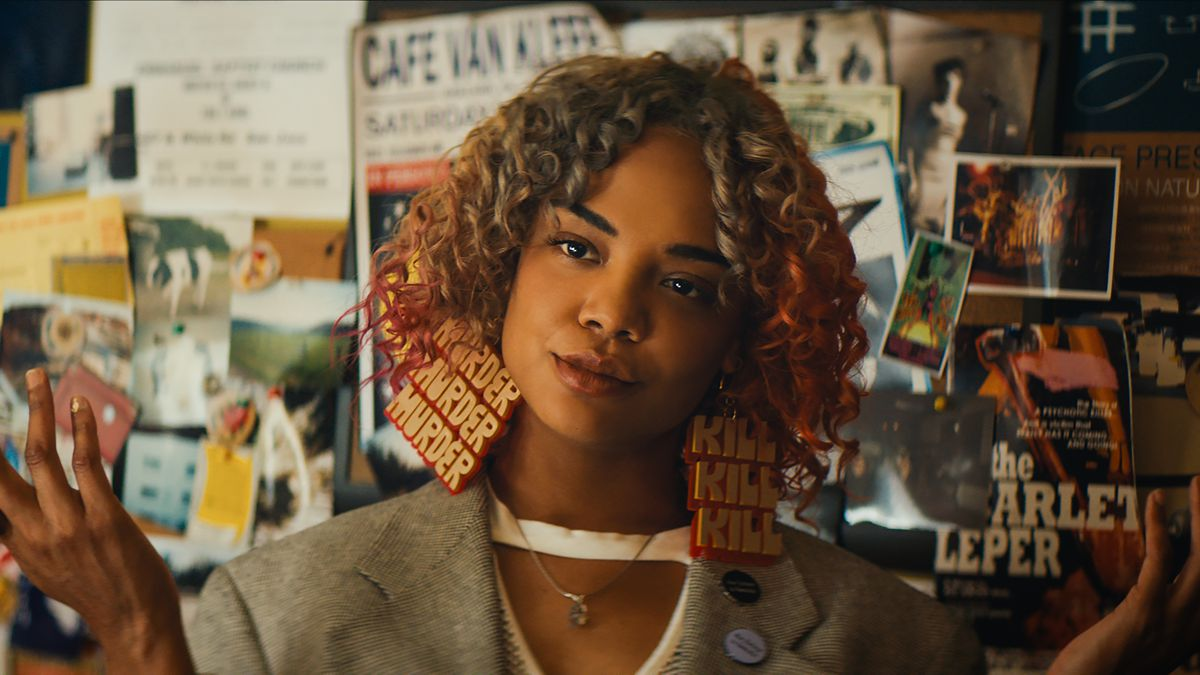 Image result for tessa thompson in sorry to bother you full body