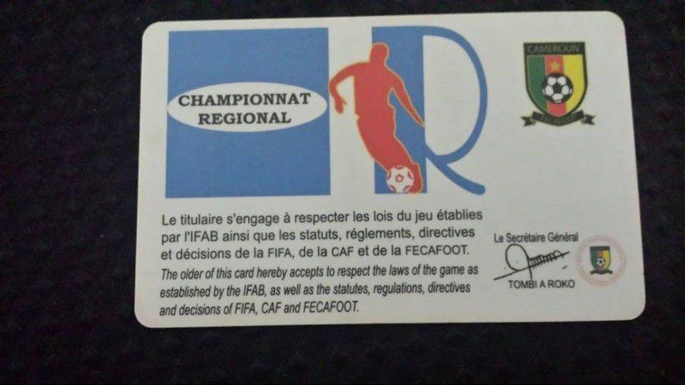 Oyongo Registration Card Back