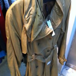 Love, love this leather trench.