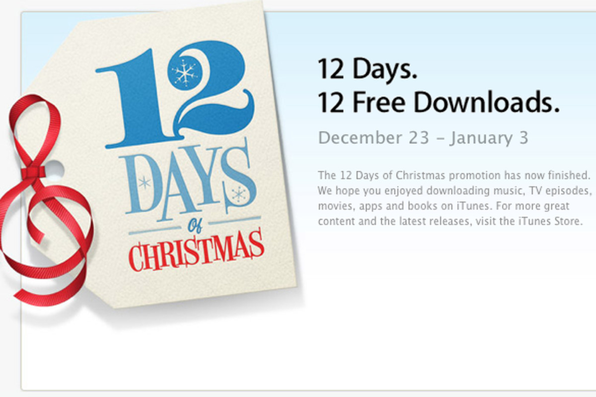 Apple releases \'12 Days of Christmas\' app for free downloads in ...