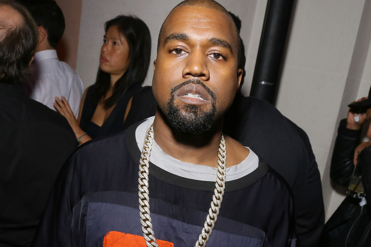 Kanye West attends Vogue 95th Anniversary Party on October 3, 2015, in Paris, France.