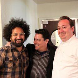 Chefs Ravi Kapur, George Morrone, and Joseph Humphrey