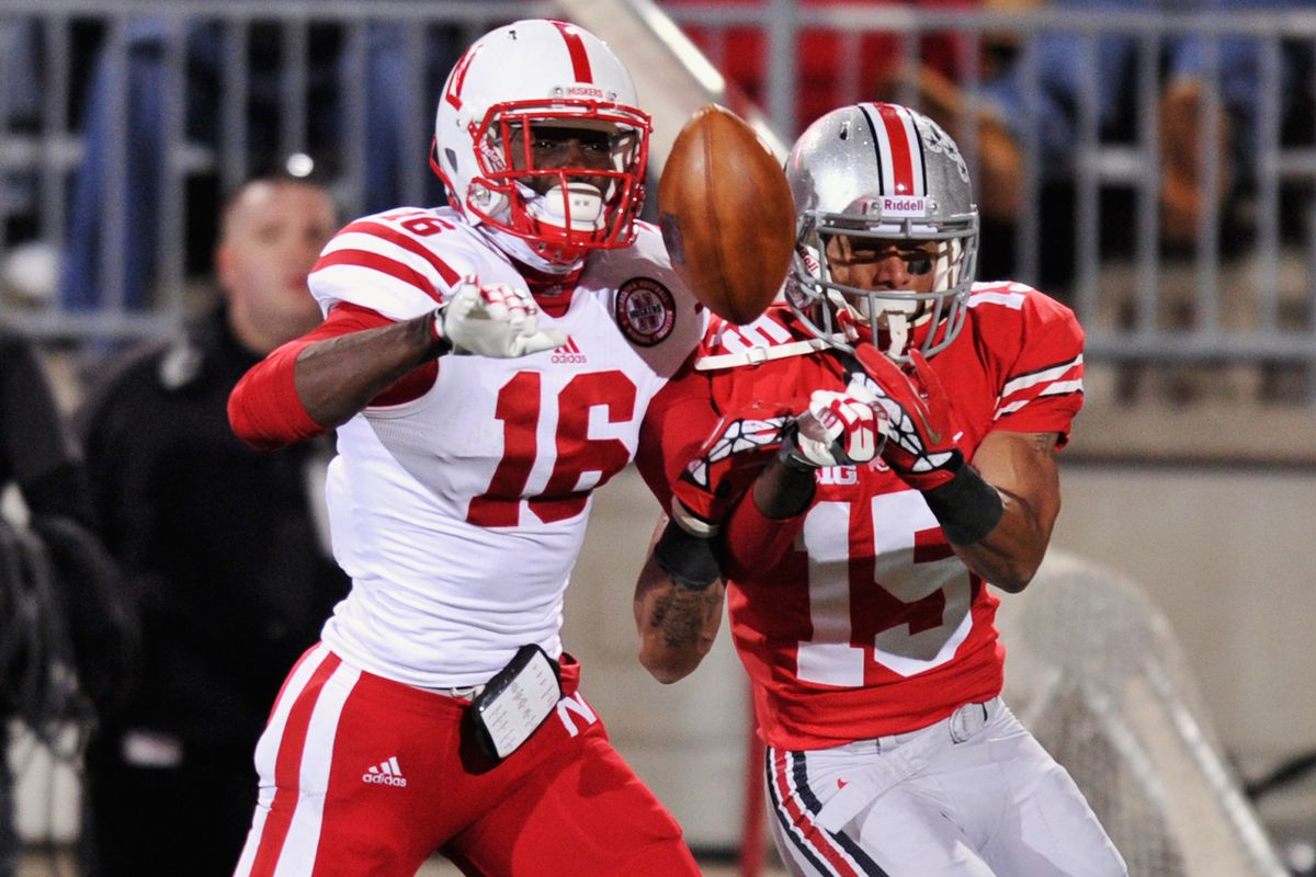Stanely Jean-Baptiste breaks up a pass vs. Ohio State