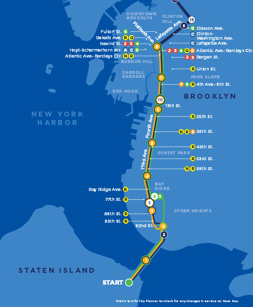 NYC Marathon Time TV Schedule Map Route And Street - Nyc marathon map
