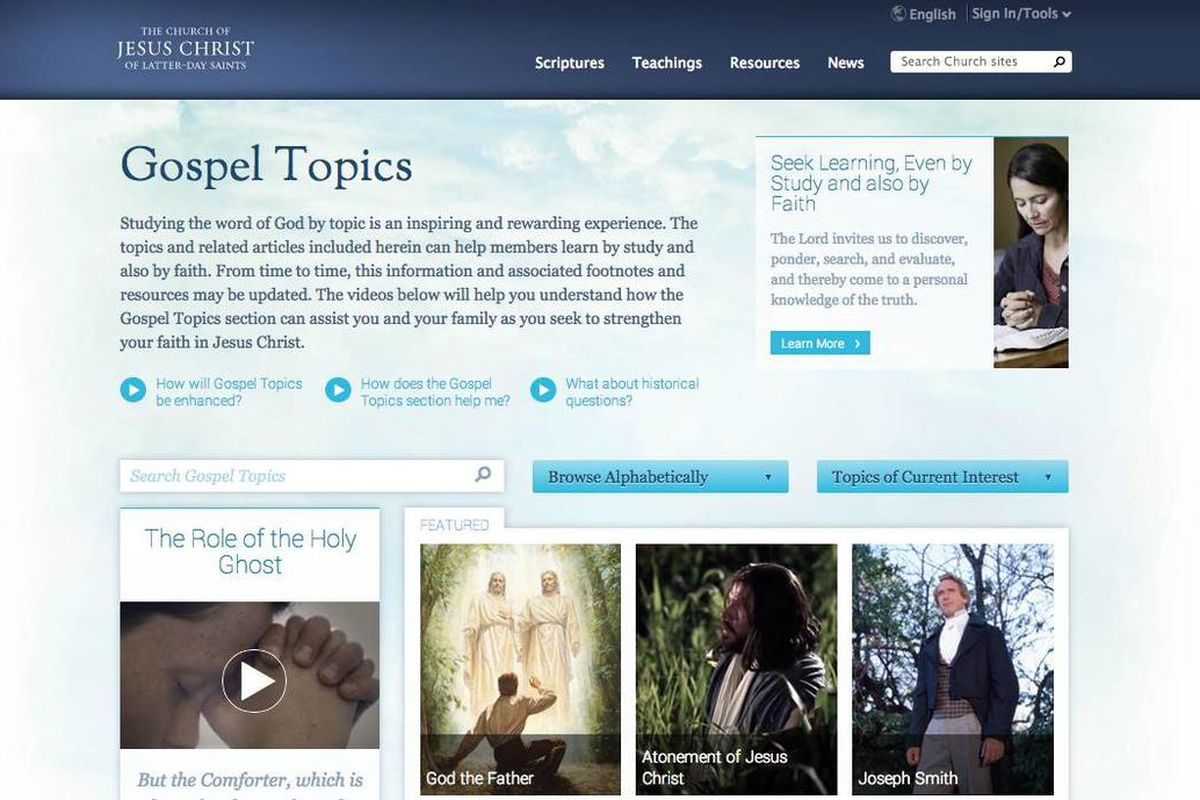 The LDS Church posted two new essays online Wednesday.