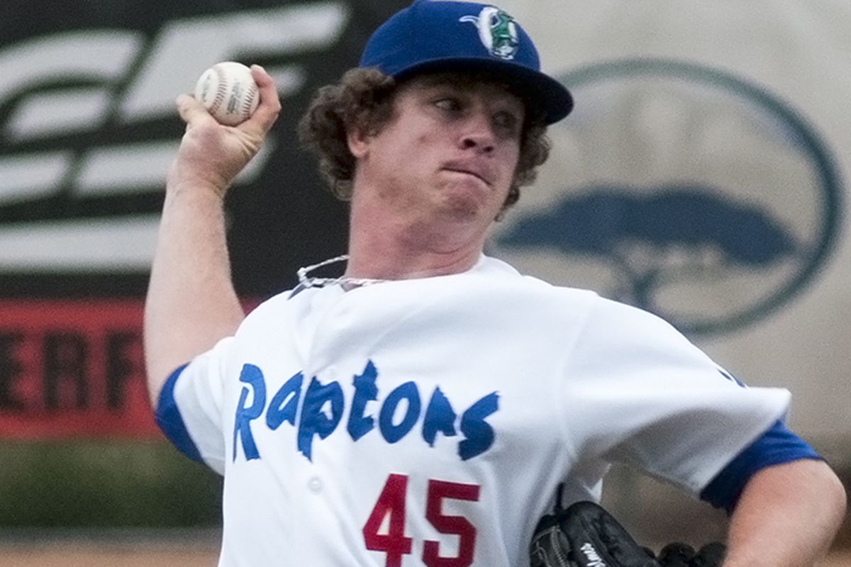 Grant Holmes struck out 29.6 percent of hitters faced in his first professional season.