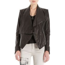 """<span class=""""credit""""><b>Helmut Lang</b> Drape Front Leather Jacket at <b>Barneys</b>, <a href=""""http://www.barneys.com/on/demandware.store/Sites-BNY-Site/default/Product-Show?pid=502799494&cgid=womens-jackets&index=35"""">$1390</a></span><p>"""