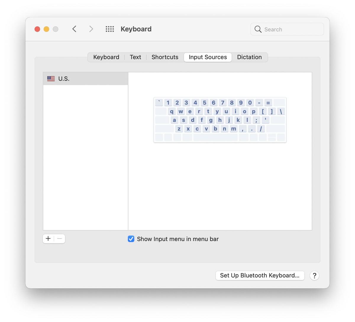 To get the Input Menu icon, you need to enable it in your Keyboard preferences.