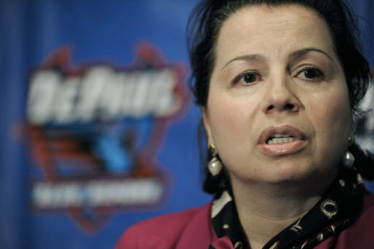 DePaul athletic director Jean Lenti Ponsetto has spent 40 years as an administrator in the school's athletic department.