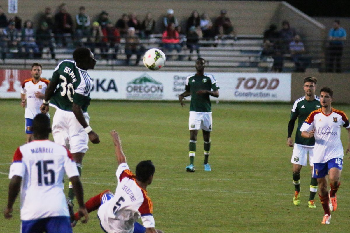 Twice-goalscorer Belmar against Real Monarchs in the last match these two sides played.
