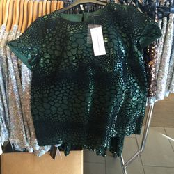 Reptile sequined top, size 4, $20 (was $198)