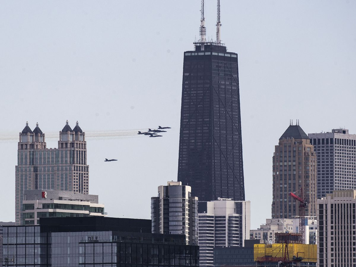 U.S.-CHICAGO-BLUE ANGELS-COVID-19-FLYOVER