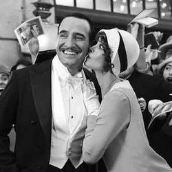 at FIDM, Jean Dujardin and Bérénice Bejo's costumes are in full color