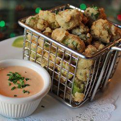 "Fried Okra from Sugar Freak by <a href=""http://www.flickr.com/photos/bradleyhawks/7764868764/in/pool-eater/"">Amuse * Bouche</a>"