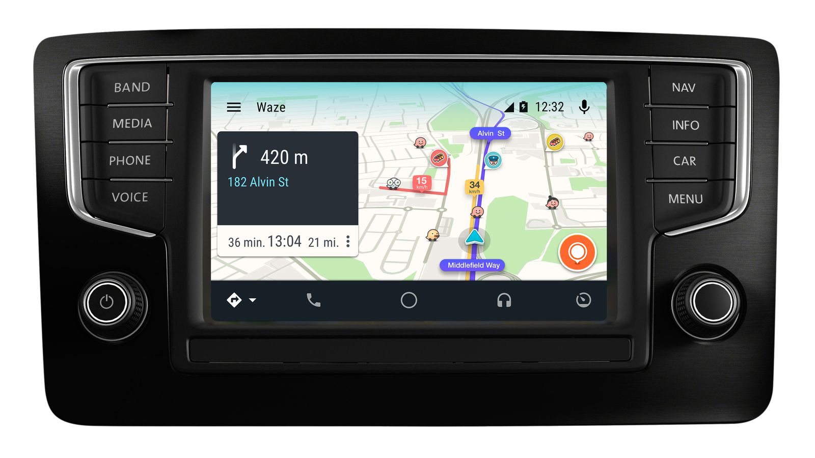 waze is coming to android auto the verge. Black Bedroom Furniture Sets. Home Design Ideas