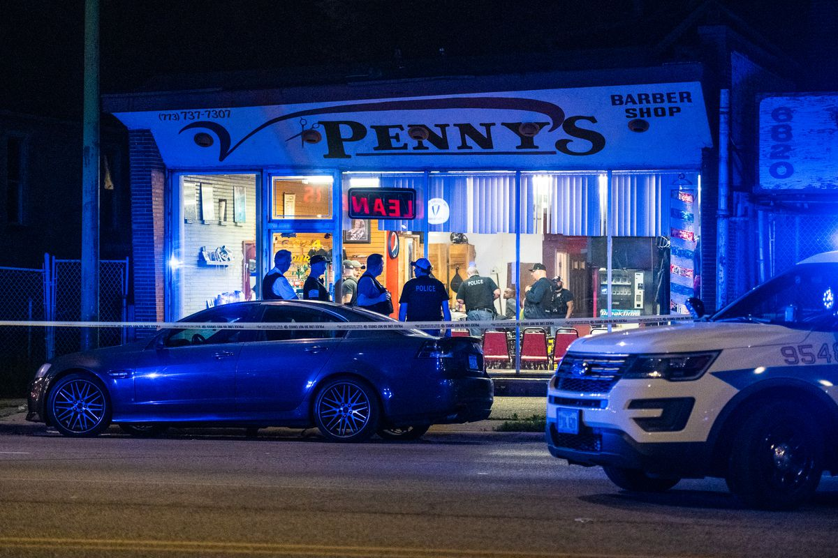 A man who was shot outside a barbershop last year in Marquette Park has died.