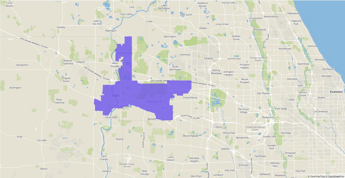 Illinois Senate 22nd District map.