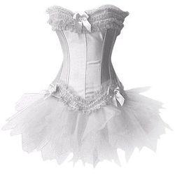 "<b>3. White Satin Corset with Tutu Skirt, <a href=""http://www.amazon.com/Loi-color-Corset-Busiter-Padded-Lingerie/dp/B00EDQAKB6/ref=sr_1_3?ie=UTF8&qid=1401852558&sr=8-3&keywords=women%27s+white+tutu"">$14.00 to $19.49</a></b> at Amazon.  For the 80s lover,"