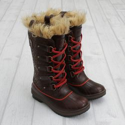 "<a href=""http://shop.cncpts.com/products/sorel_tofino_cheetah_dkbrown"">Concepts x Sorel Tofino Etched Leather CC</a>, $200"