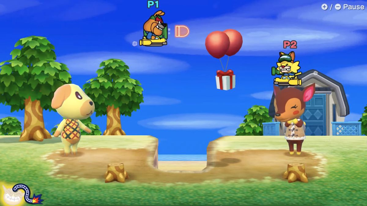 An Animal Crossing microgame in WarioWare: Get It Together!