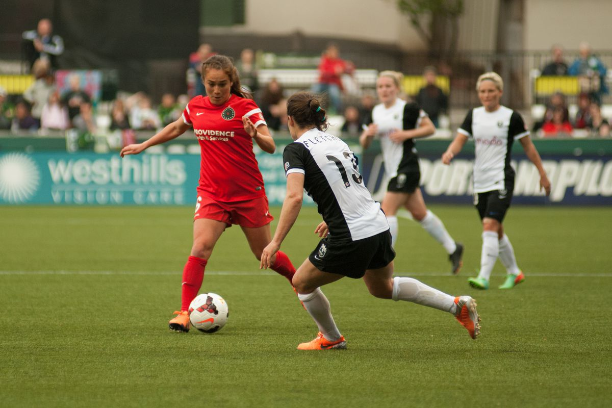 Despite early pressure, Mana Shim and the Thorns couldn't match the Reign in Seattle