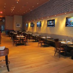 More looks at the dining room at the new Public House at the Luxor.