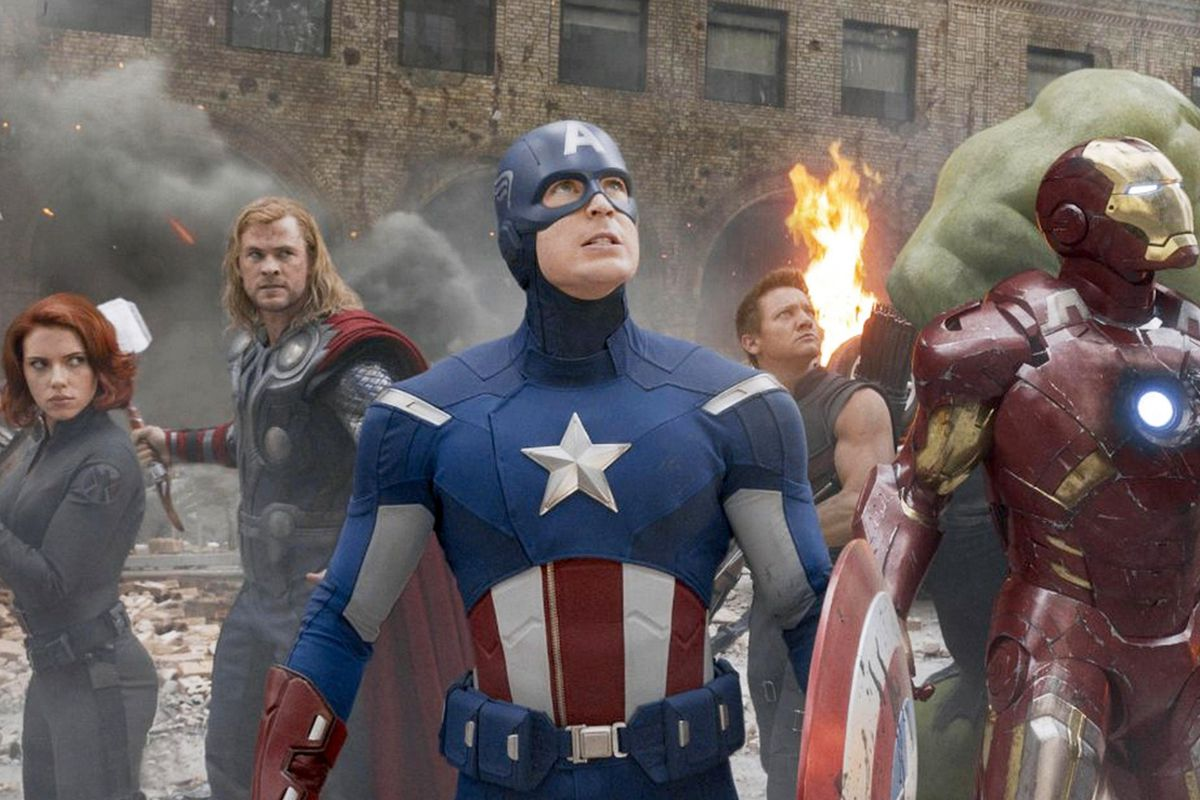Marvel superheroes, including Captain America, the Hulk, and Iron Man