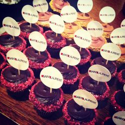 Saint Laurent-themed cupcakes, courtesy of Frosted Cupcakery