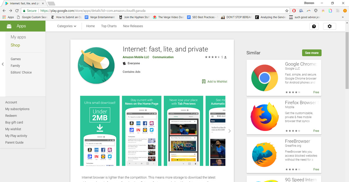 Amazon made an efficient Android browser called Internet ...