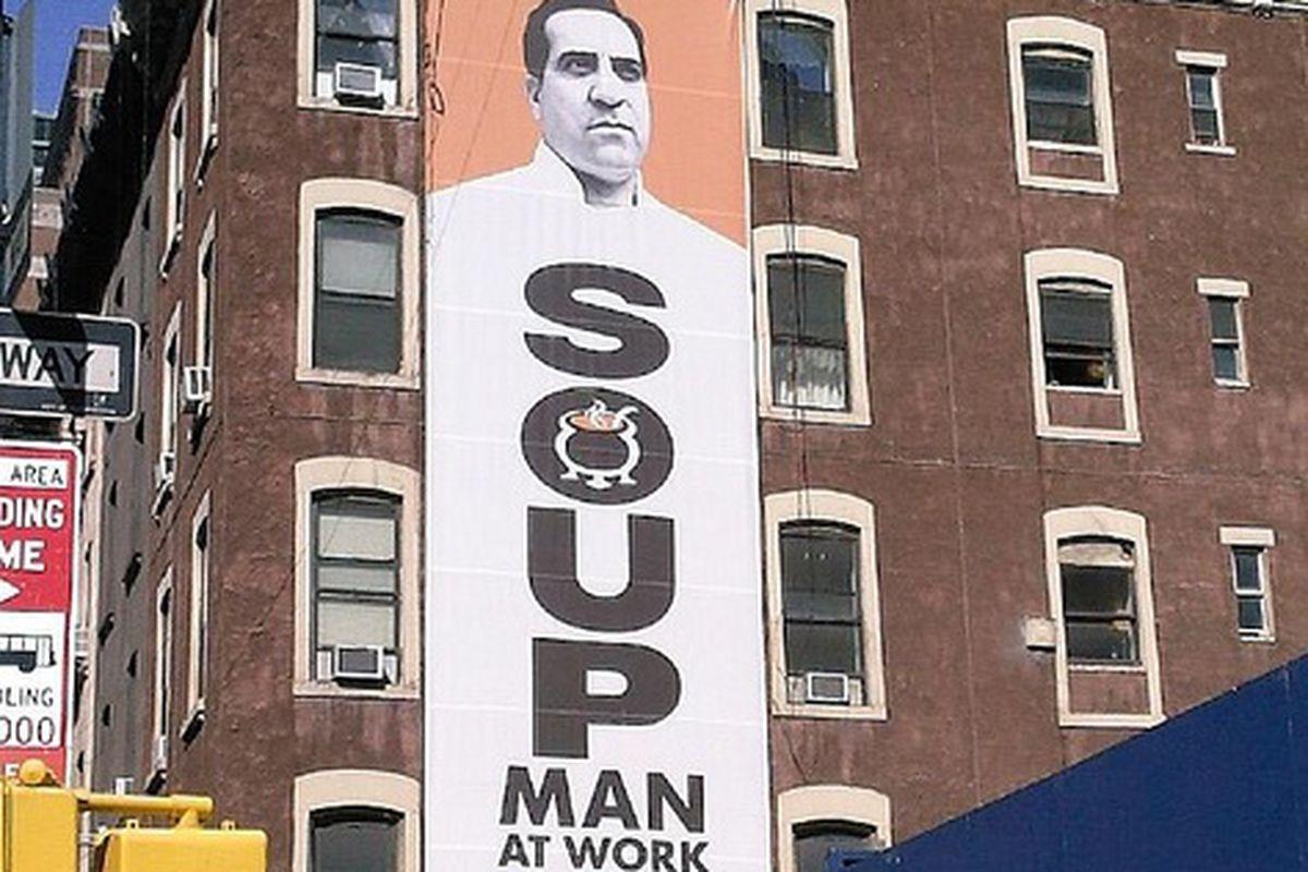 Soup Man Signage