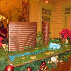 A gingerbread replica of Wynn Las Vegas and Encore Las Vegas. Photo: Susan Stapleton