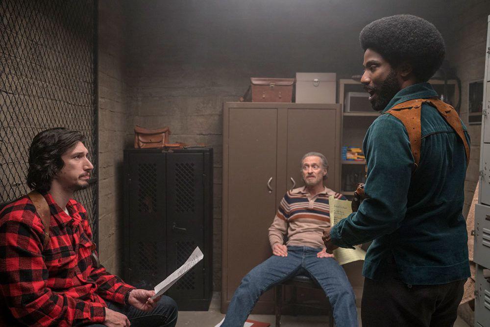Adam Driver, Michael Buscemi, and John David Washington in BlacKkKlansman.