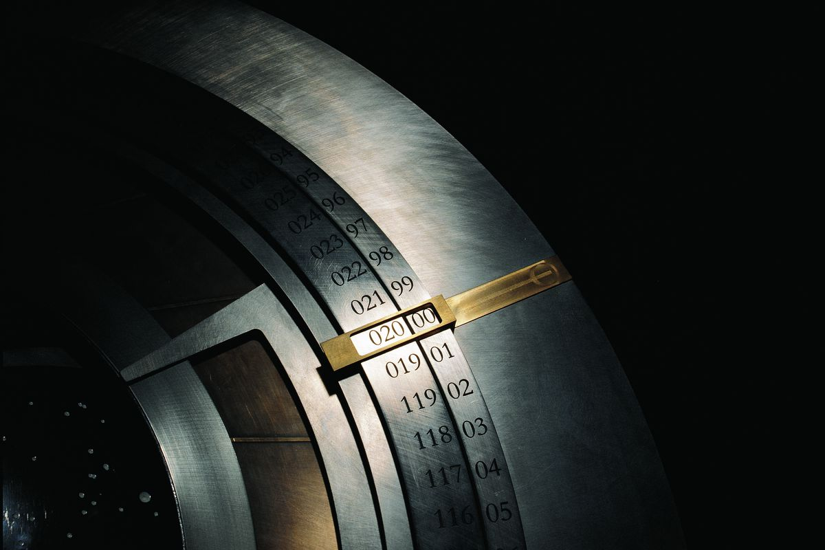 The dial of a prototype 10,000-year clock.