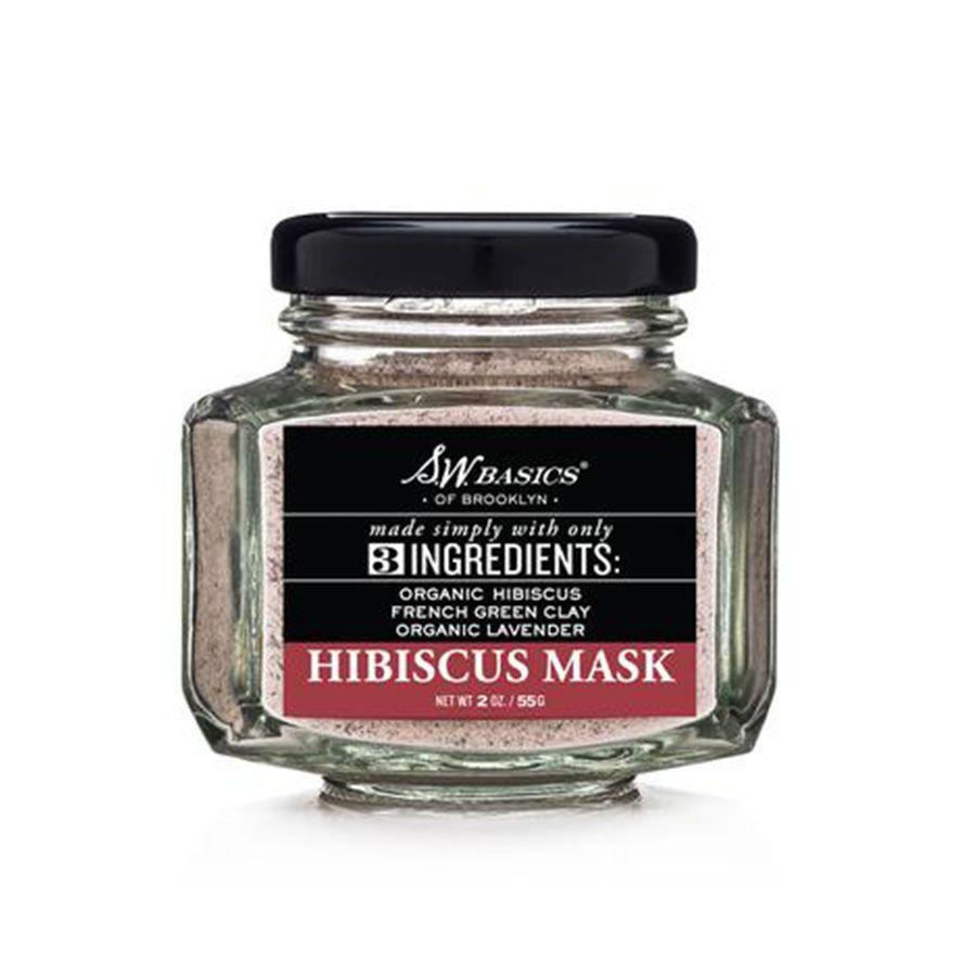 A jar of SW Basics powdered Hibiscus Mask