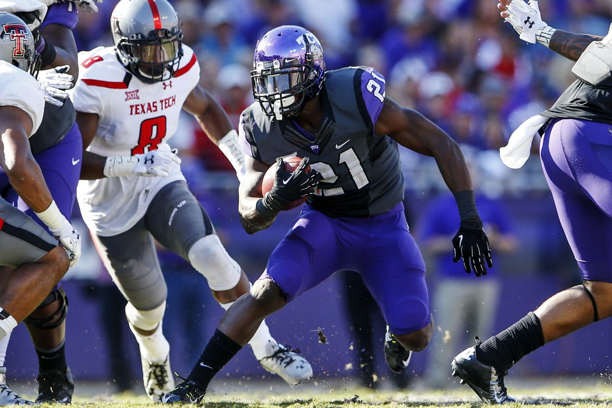 Kyle Hicks takes his turn at cutting up the Texas Tech defense