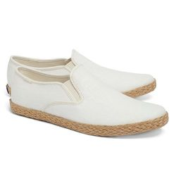 """<strong>Keds for Brooks Brothers</strong> Linen Espadrilles in Ivory, <a href=""""http://www.brooksbrothers.com/Keds®-for-Brooks-Brothers-Linen-Espadrilles/MH00157,default,pd.html?dwvar_MH00157_Color=KHAK&contentpos=1&cgid="""">$78</a>"""