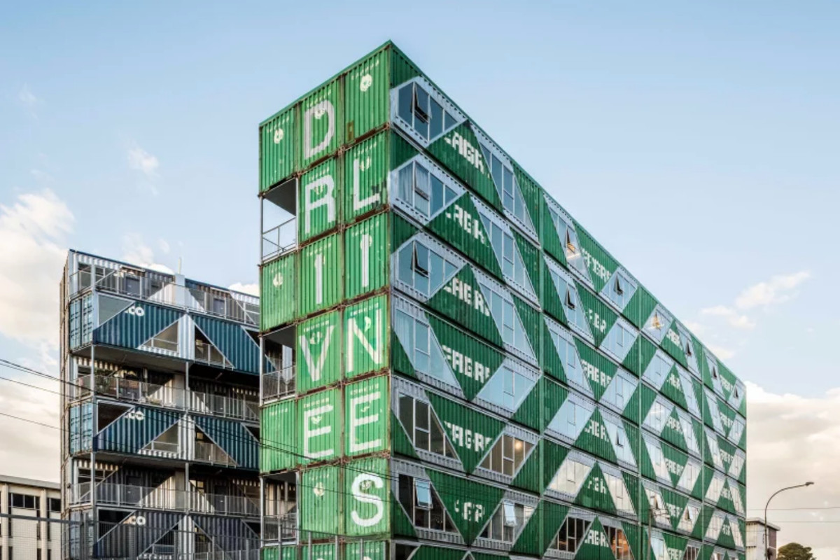 Shipping Container Apartment Building By Lo Tek Rises In