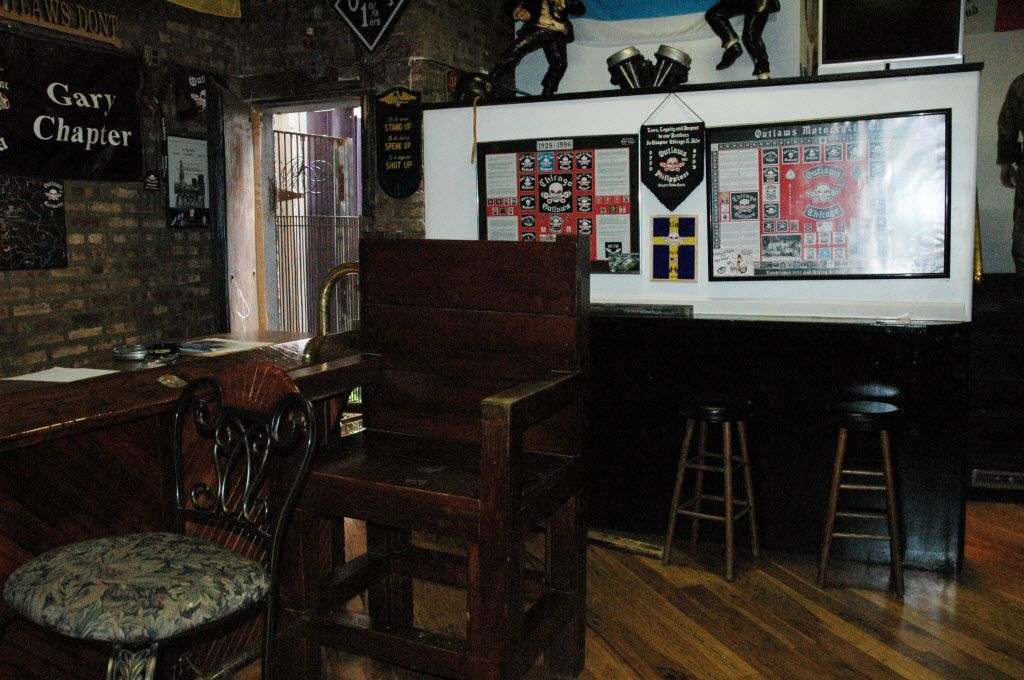 The bar area at the Outlaws' old North Side clubhouse.