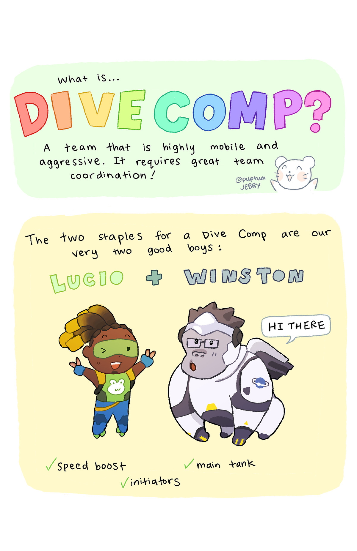 Lucio and Winston are the keystones of a dive comp.
