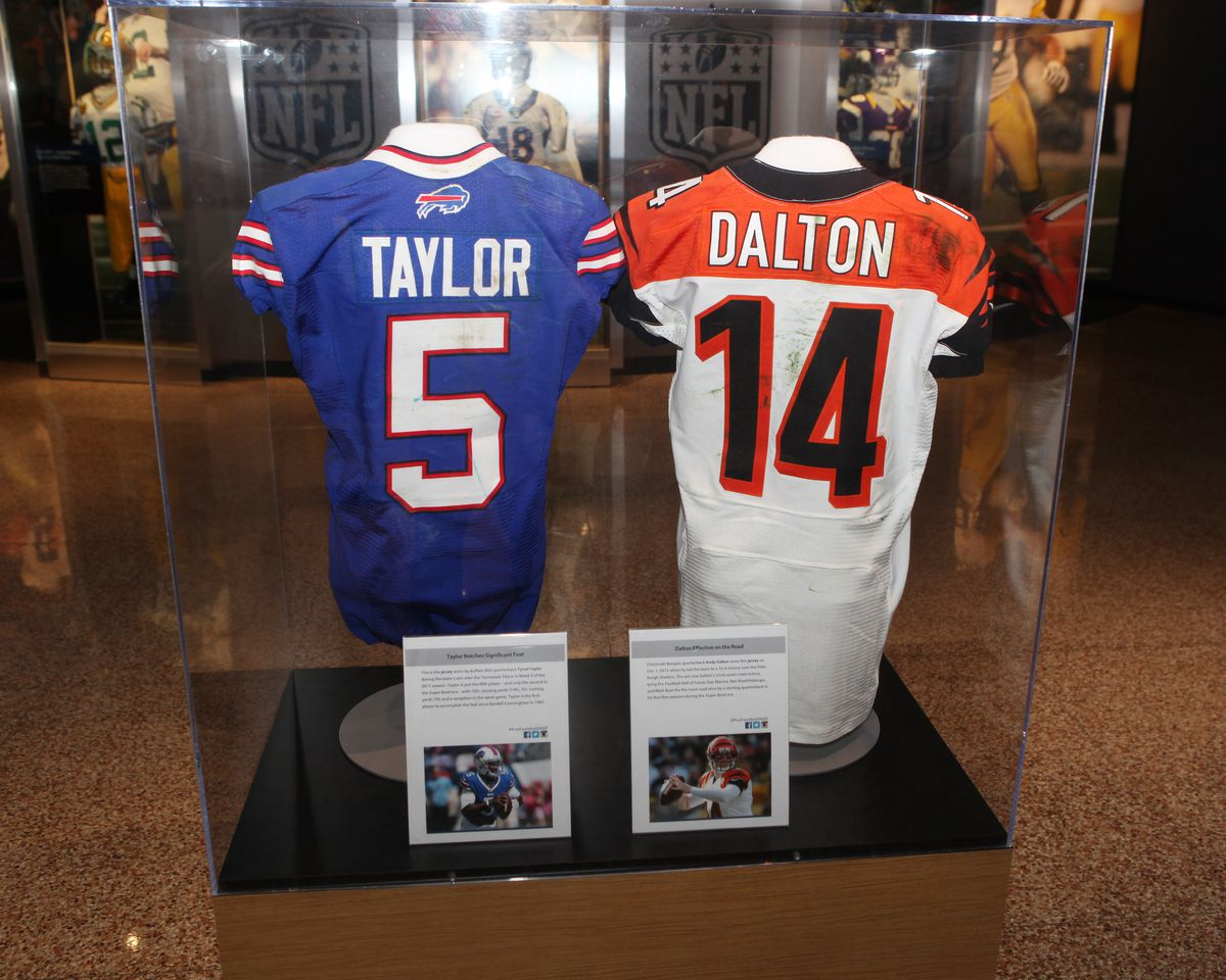 Andy Dalton's game-worn jersey from Week 8 vs Pittsburgh in the ...