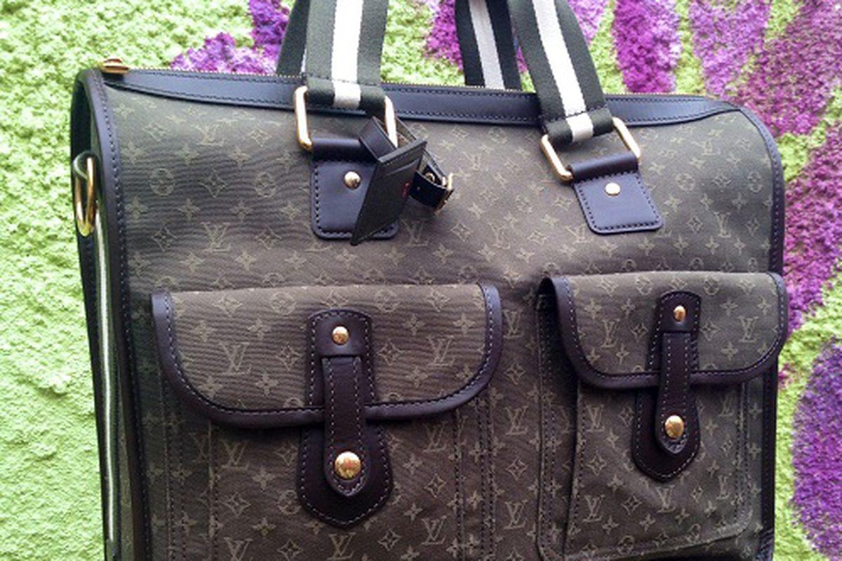 "This LV bag will be up for auction at Laurentius. Image credit: <a href=""http://laurentiussalon.com/"">Laurentius Salon</a>"