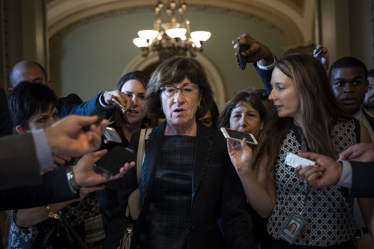 GOP Senators Meet On Capitol Hill Day Before Hearing With Supreme Court Nominee Brett Kavanaugh And His Accuser Dr. Christine Blasey Ford